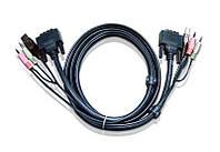 2L-7D02UD KVM-кабель USB двойного канала DVI-D (1,8 м)