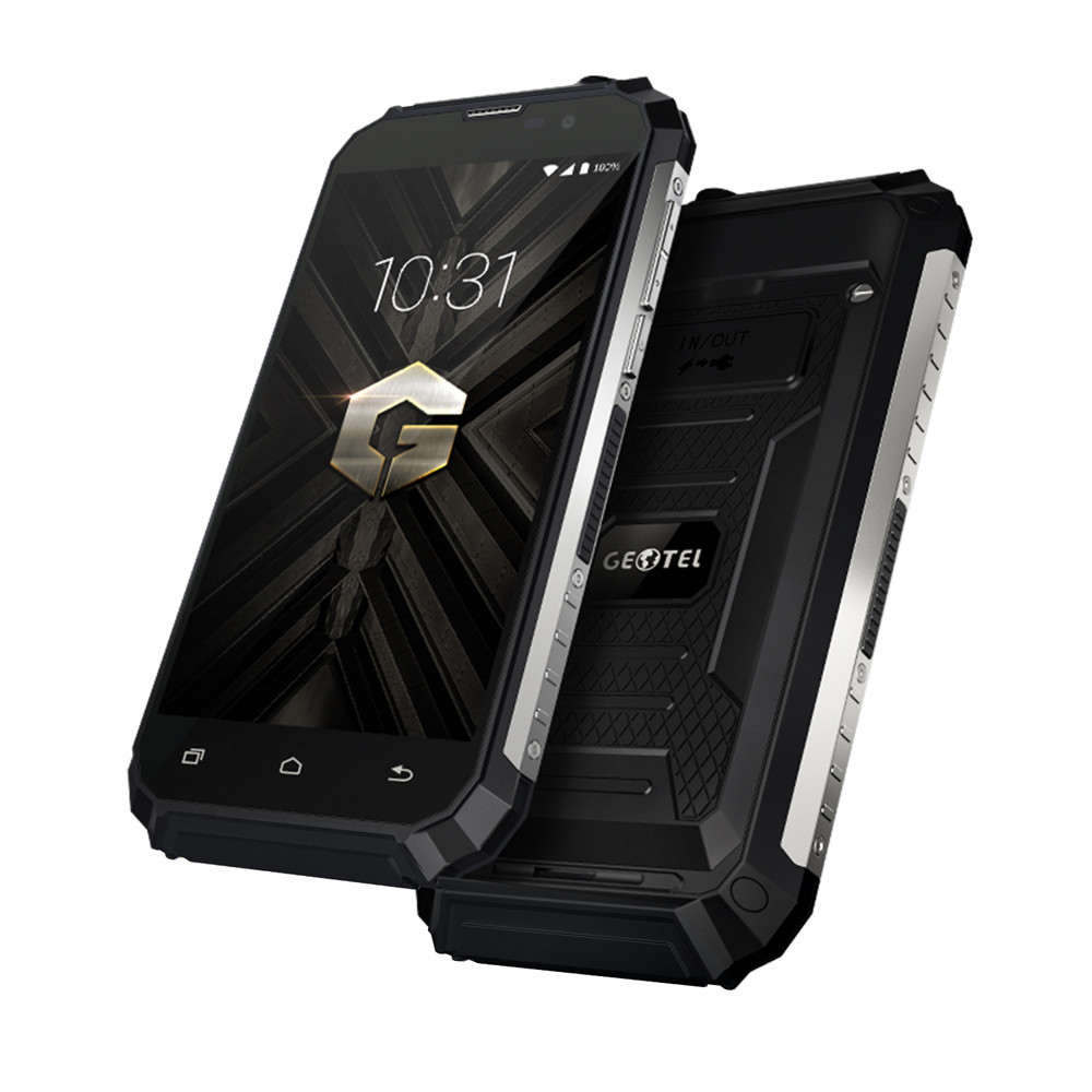 "Смартфон Geotel G1 2/16Gb Black IP68, 2sim, 8/2Мп, 7500mAh, экран 5""IPS, GPS, 3G, 4 ядра, Android 7.0"