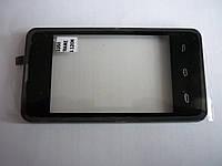 Тачскрин для Prestigio PAP3350 DUO MultiPhone/Explay A351, черный, с передней панелью, #CS035X-LC03A