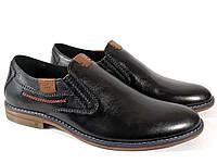 Мужские туфли Slat 17-265 чёрные, натуральная кожа
