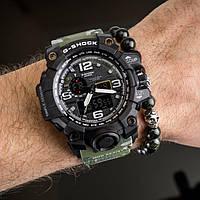 Мужские спортивные часы Casio G-Shock GWG-1000 GREEN strap копия, фото 1