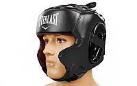 Шлем боксерский в мексиканском стиле FLEX ELAST(черный, р-р M-XL)