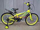 Детский велосипед Crosser Stone 20 дюймов желтый, фото 2