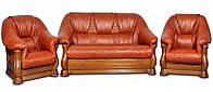 Новая мягкая мебель в коже Маркиз (3р+1+1)