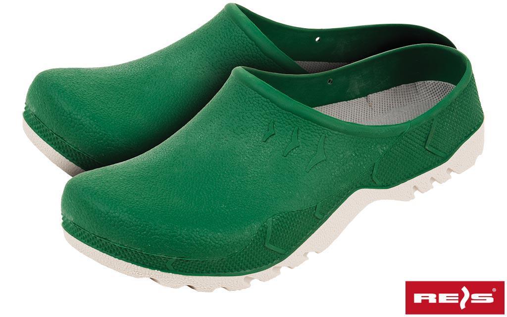 Шлепанцы резиновые универсальные зеленые Reis Польша (спецобувь) BCLOGS Z