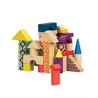 Деревянные кубики Battat Еловый Домик (40 деталей, в сумочке) gBX1361Z