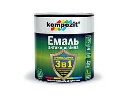 Емаль KOMPOZIT антикорозійна 3 в 1 чорна 0,75кг