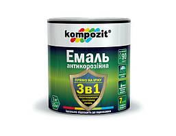 Емаль антикорозійна 3 в 1 KOMPOZIT 2,7кг чорна