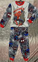 Детская махровая пижама для мальчика с рисунком человека-паука 28-38 р, детские пижамы оптом