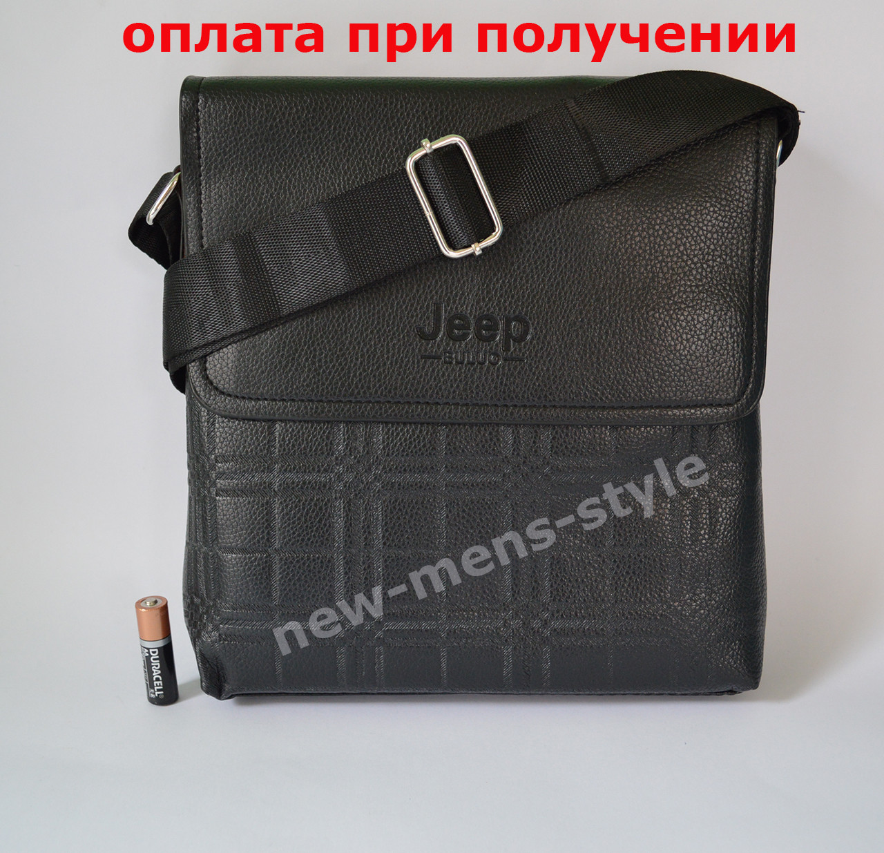 Мужская кожаная фирменная сумка барсетка Jeep Polo классика купить