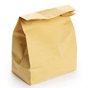 Пакет бумажный на вынос (260х130х350) 100шт