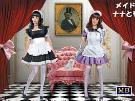 "Девушки в стиле ""мэйдо-кафе"". Нана и Момоко. 1/35 MASTER BOX 35186"