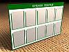 Информационный стенд на 10 карманов А4, 1220х740 мм (Состав: Без рамки;  Нанесение: Аппликация пленками
