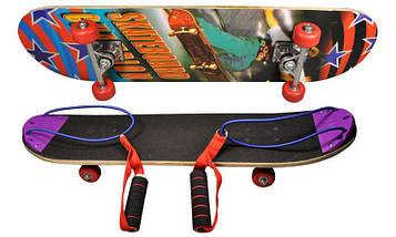 Скейтборд с ручками (р-р 50х36 мм)