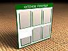Информационный стенд на 5 кармана А4 и 1 карман А4 (под книгу) 750х740 мм (Состав: Без рамки;  Нанесение: Аппликация пленками ORACAL;)