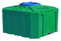 Емкость 300 л. квадратная, двухслойная зеленого цвета