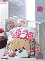 Комплект постельного белья в детскую кроватку Arya Sevimli
