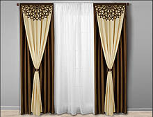 Готовые шторы с ажурными , лазерными ламбрекенами