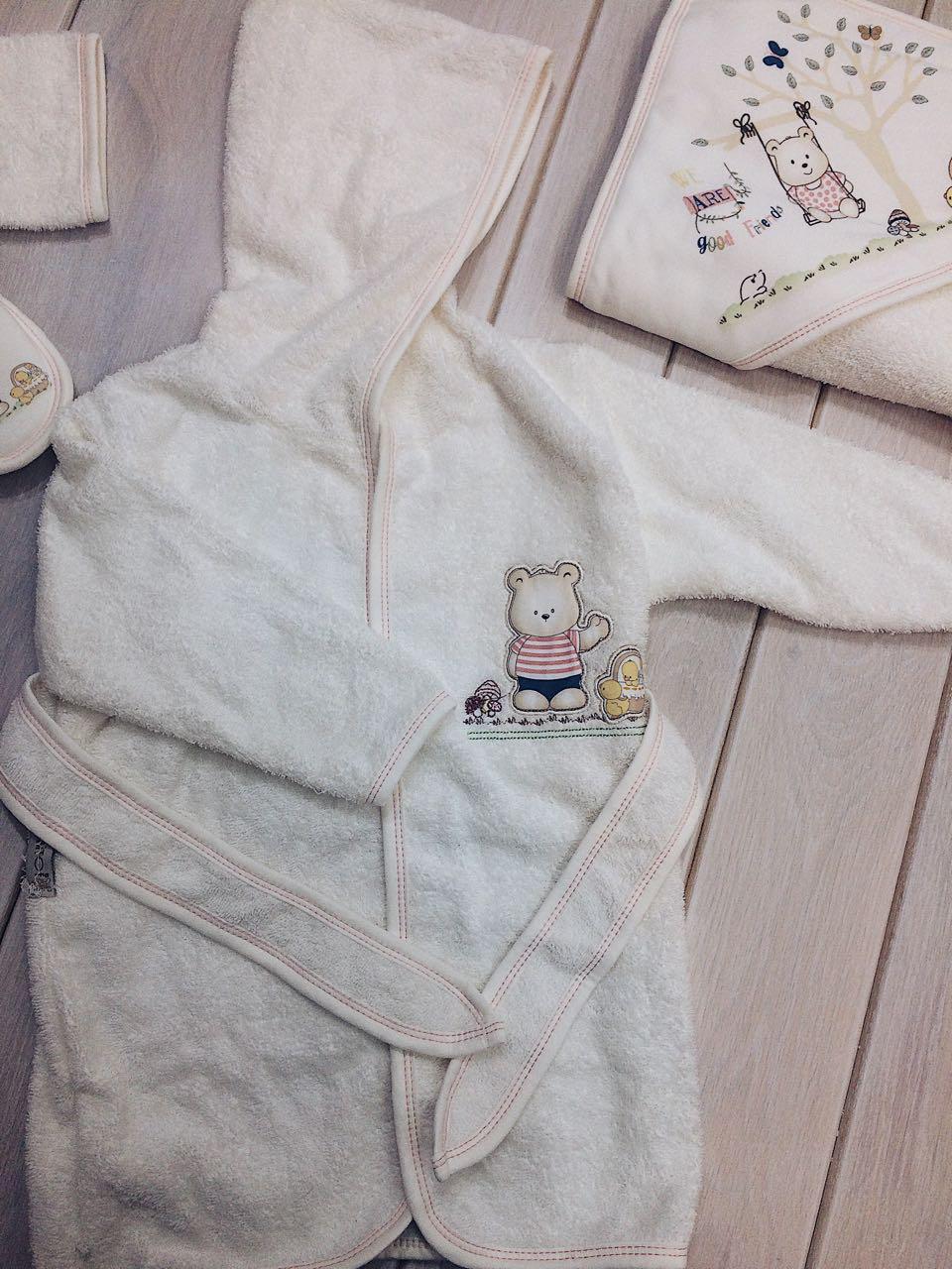 """Банный набор детский полотенце, халат,тапки - Интернет-магазин """"LEMON"""" в Черновцах"""