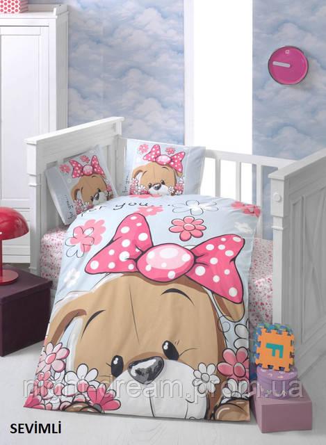 Комплект постельного белья в детскую кроватку Arya