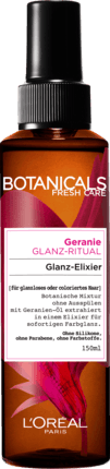 Кератиновый тоник-спрей L'Oréal Botanicals Fresh Care Geranie Glanz-Ritual Glanz Elixir, 150 ml.