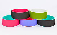 Колесо-кольцо для йоги Fit Wheel Yoga (PVC, TPE, р-р 32х13см, цвета в ассортименте)