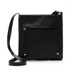 Отличная женская сумка через плечо Favolook черная