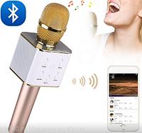 Беспроводной микрофон DM Karaoke Q7 с Bluetooth GOLD