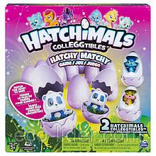 """Настольная игра-мемори """"Hatchimals"""" с двумя эксклюзивными коллекционными фигурками"""