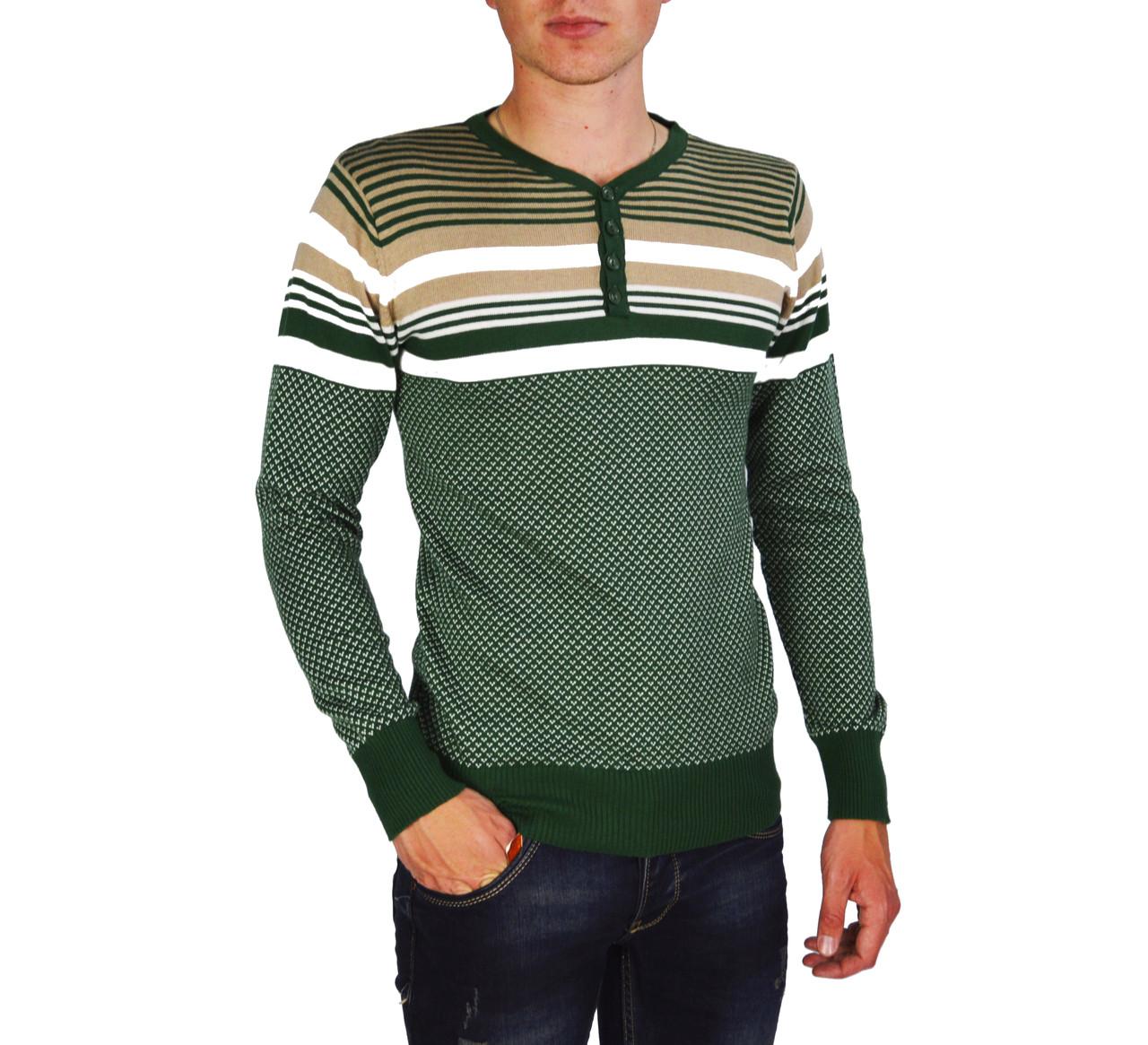 Зеленый свитер мужской, джемпер GEREKLI