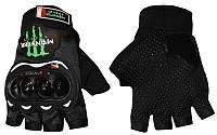 Вело-мото перчатки текстильные MONSTER Energy