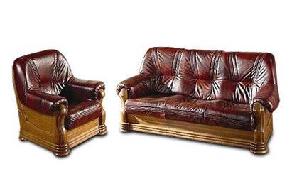 "Классический комплект кожаной мебели ""ANETA I, II"" (3р+1)"
