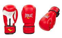 Перчатки боксерские PVC на липучке EVERLAST(р-р 6 - 12oz, красный)