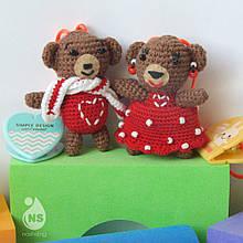 Іграшки-брязкальця амігурумі - Валентин+Валентина