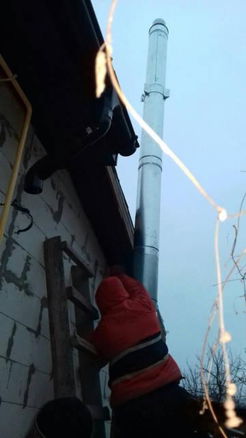 Дымоходная труба 160/220 нер/оцинковка0,8мм , высота 6м