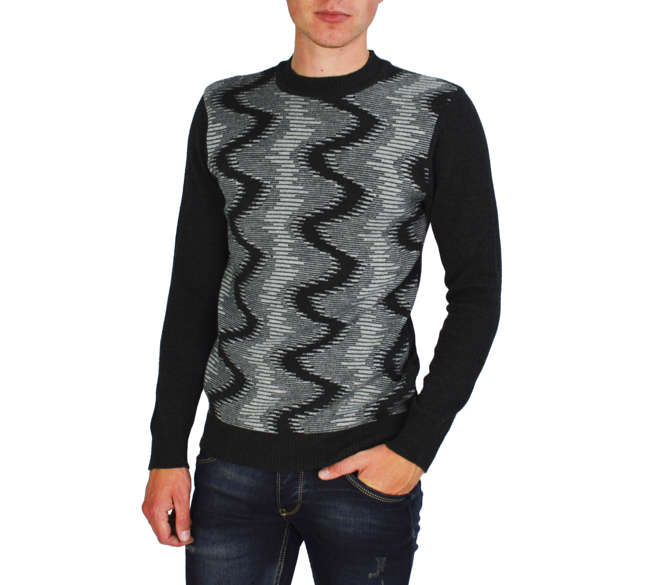 Черный мужской теплый свитер GEREKLI