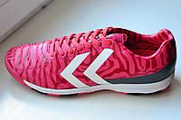 Шиповки футбольные Hummel Tiebao розовые. Оригинал. Дания.
