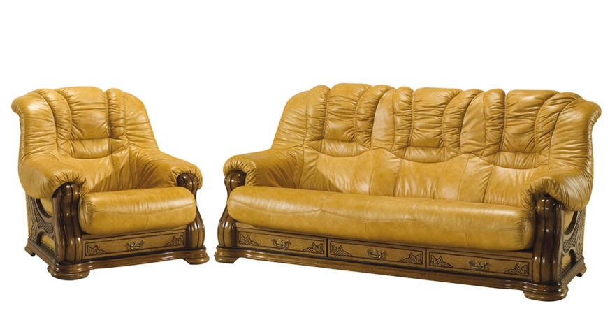 """Новый кожаный диван с креслом """"CHEVERNY"""" (3+1)"""