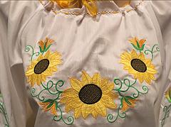 Женская вышиванка подсолнухи, фото 2