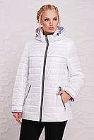 Демисезонная женская куртка 48210 белая