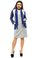 Теплое платье женское с шарфиком