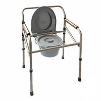 Стул-туалет MEDOK MED-04-011 стальной складной регулируемый