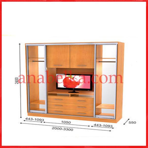 Шкаф купе ТВ-1  2900*550*2400  (Анабель)
