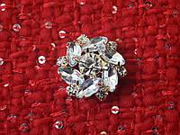 Пуговицы круглые, пуговици, горный хрусталь, камни, 18мм, фото 1