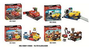 Конструктор Bela 10681-10684 Тачки (аналог Lego Juniors 10730-10733)