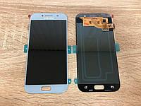 Дисплей Samsung A5 A520 Голубой Blue GH97-19733С  оригинал!