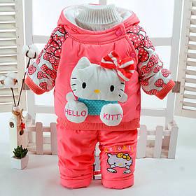 """Комбинезоны детские. Комплект для девочки """"Hello Kitty"""" персиковый"""