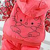 """Комбинезоны детские. Комплект для девочки """"Hello Kitty"""" персиковый, фото 4"""