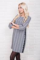 Женское платье в клетку с кружевными полосками р.44-48 AR99680-1