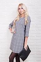 Женское платье в клетку с кружевными полосками р.44-48 AR99680-3
